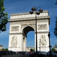 The other Paris monument--Arc de Triomphe