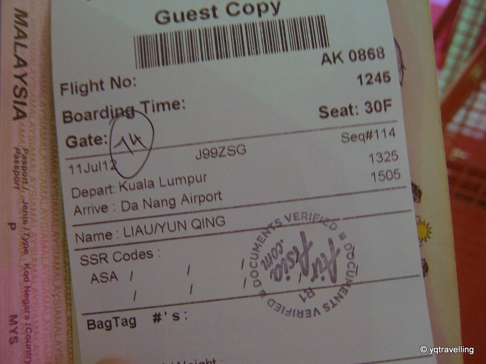 AirAsia boarding pass