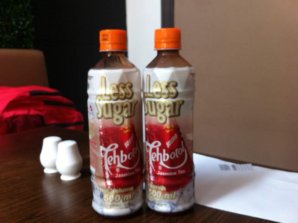 Teh botol, less sugar