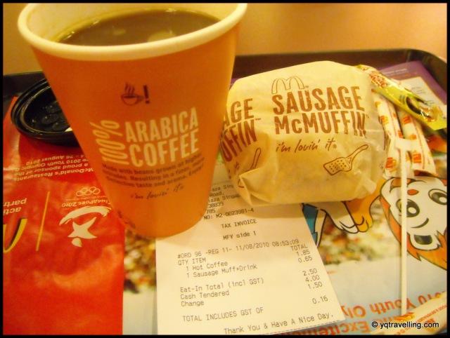 McDonald Sausage McMuffin $2.50
