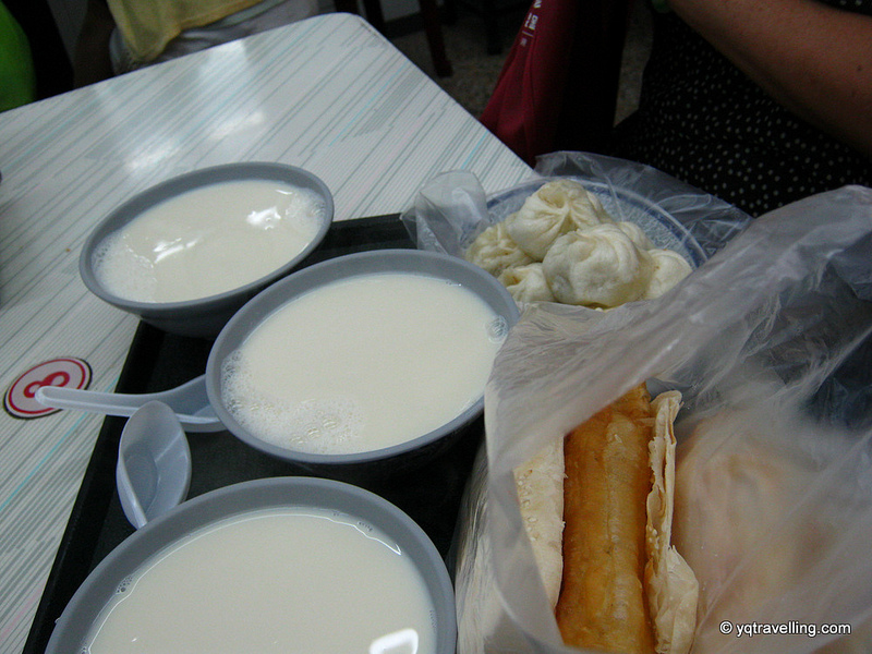 Traditional Taiwanese breakfast