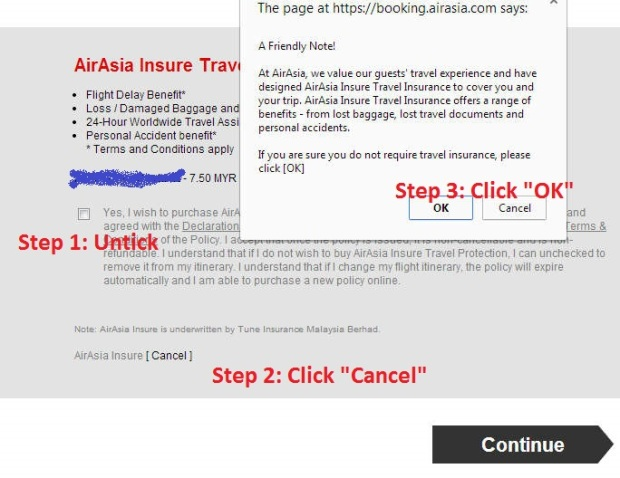 Cancel AirAsia Insurance