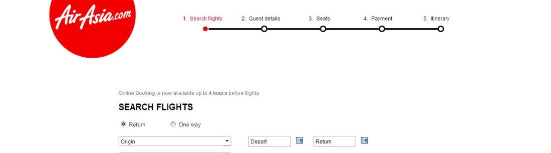 airasia booking