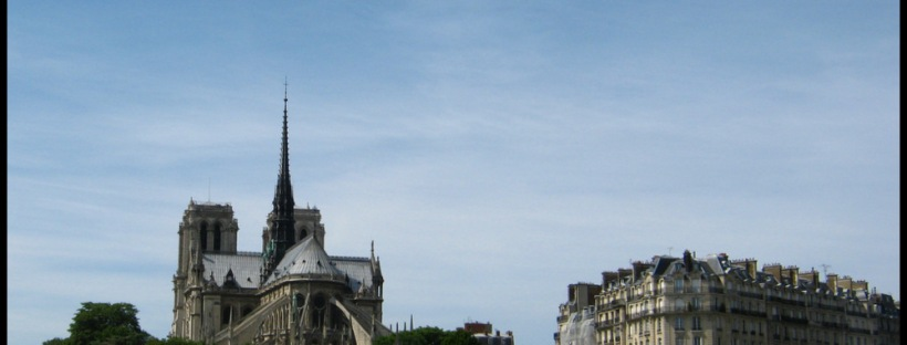 View of Notre Dame from Paris Batobus Boat