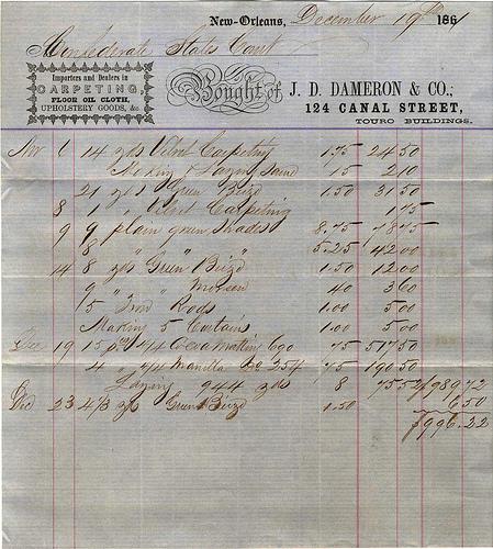 old timey receipt