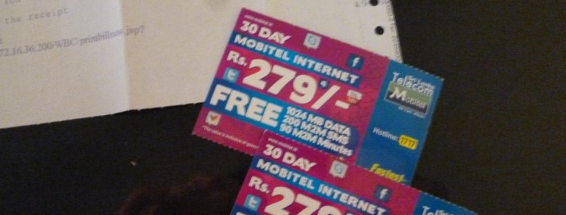 Cheap 3G package from Mobitel. Hearts