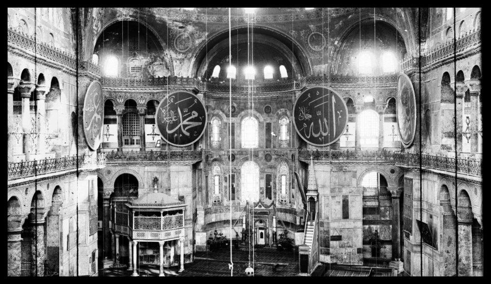 Interior of St. Sophia, Istanbul, Turkey, 1914 Hagia sophia