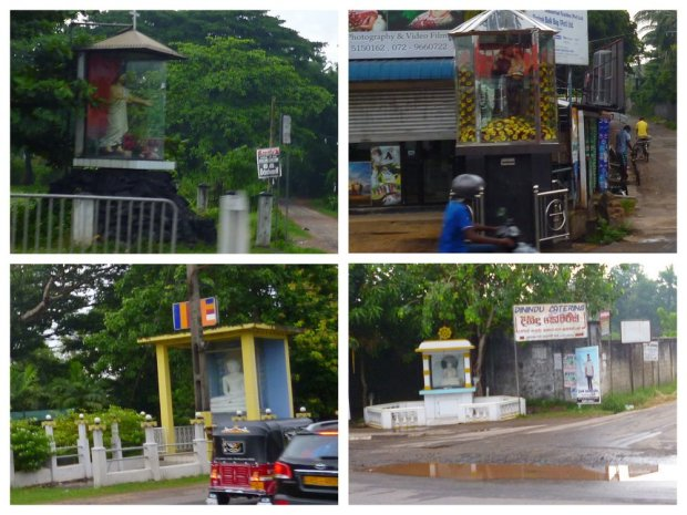 roadside shrines along Sri Lanka roads