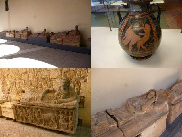 Etruscan museum show case