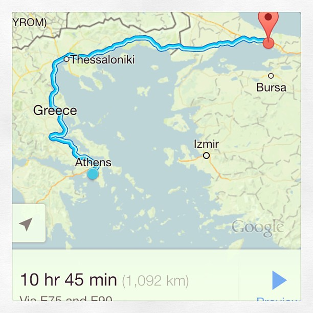 A long way to Istanbul