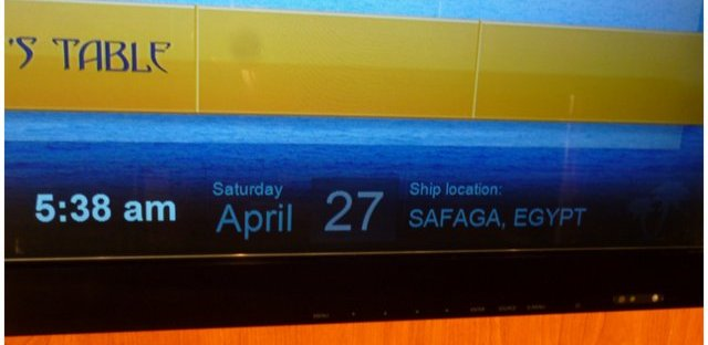Birthday on a ship