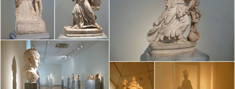 Corridor of Athena statues at National Archaeology Museum
