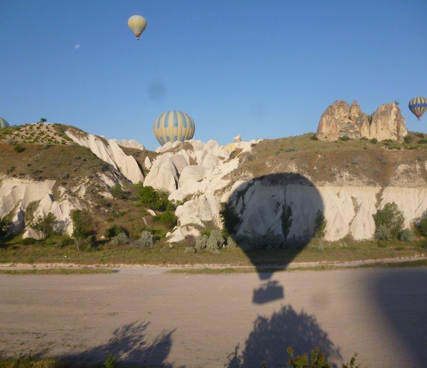 Flight of the hot air balloons
