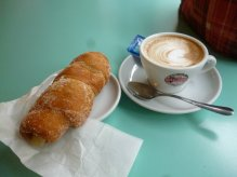 Italian coffee and pastry (cornetto)