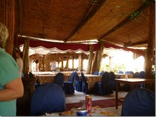 Open air restaurant