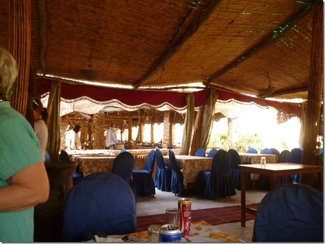 Open air restaurant