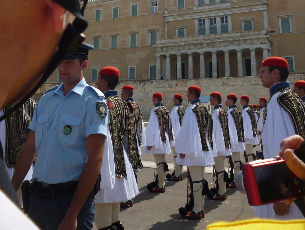 Marching ceremony at Athens's parliament