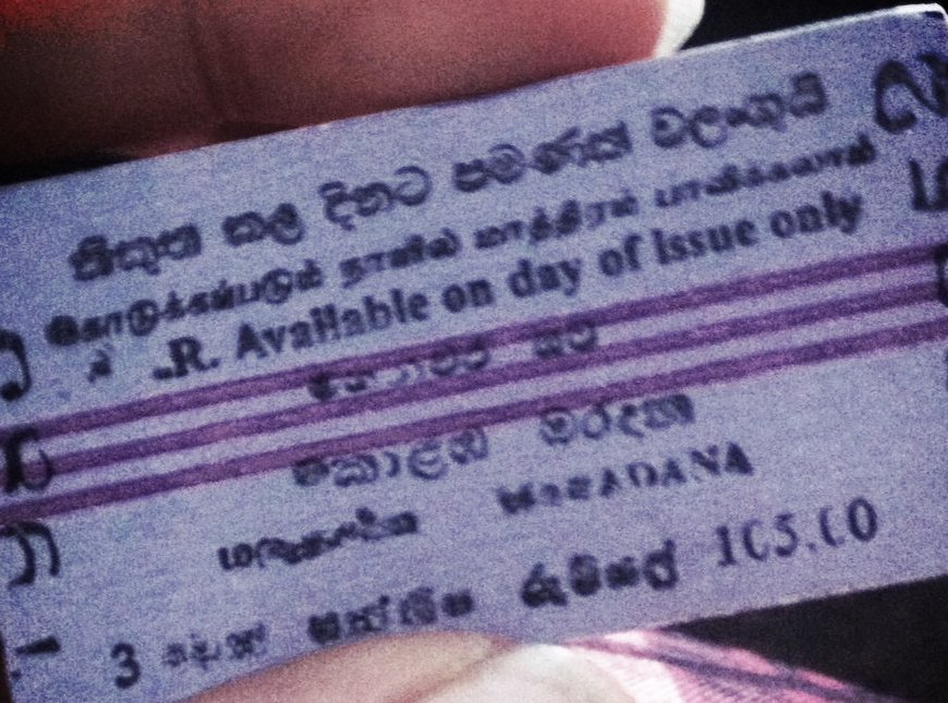 Sri Lanka Train Ticket