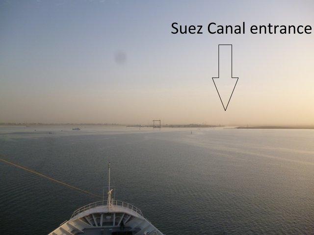 Suez Canal entrance