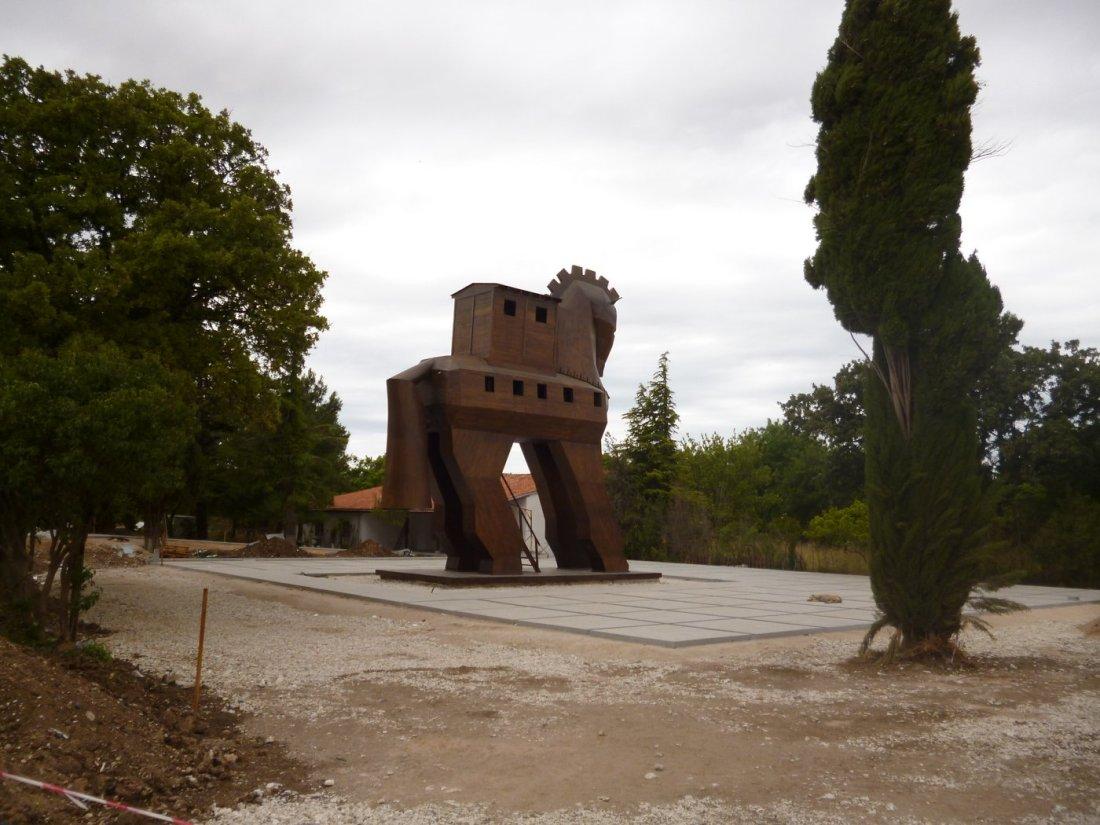 Fake Trojan Horse at Troy