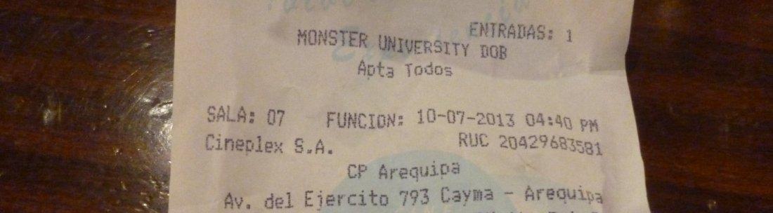 arequipa movie ticket