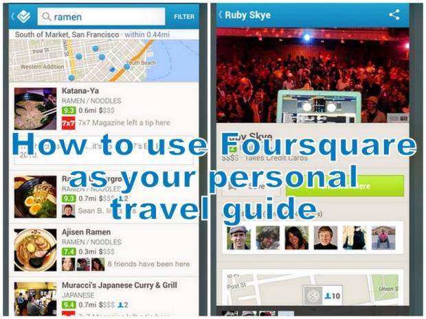 foursquare for travel