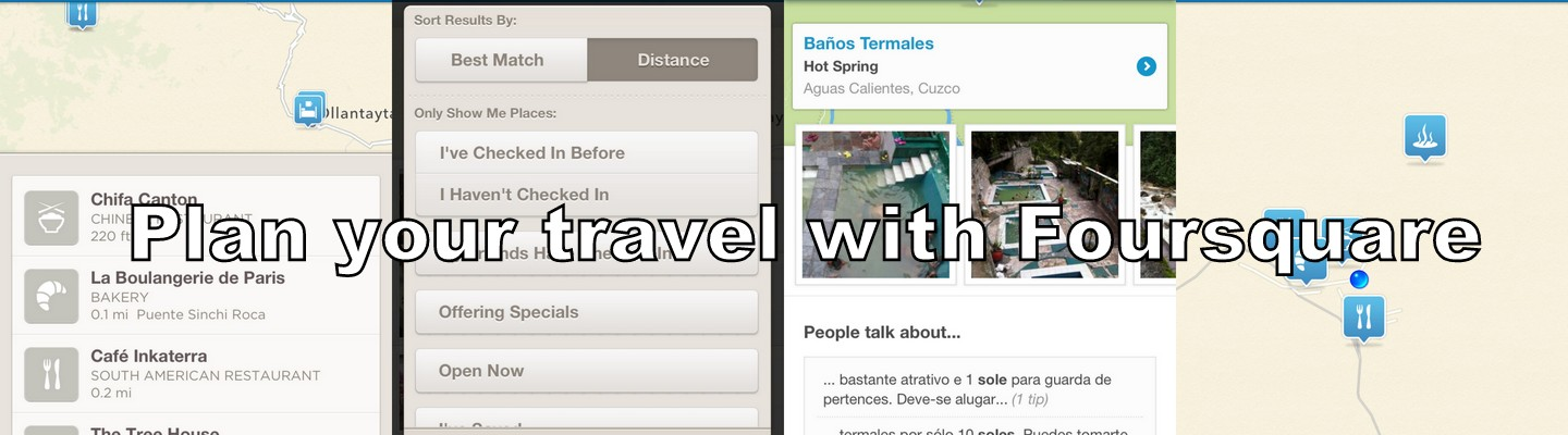 Plan a day's travel with Foursquare