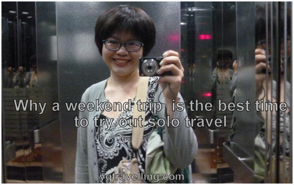 solo travel selfie