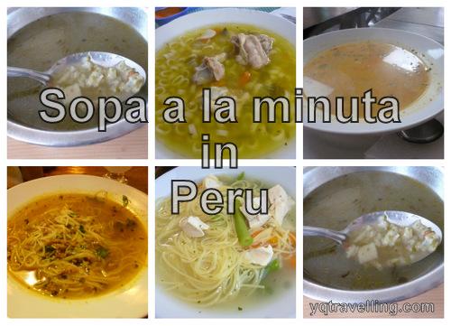 sopa a la minuta in peru