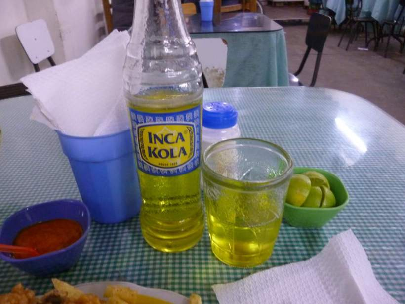 Bottle of Inca Kola