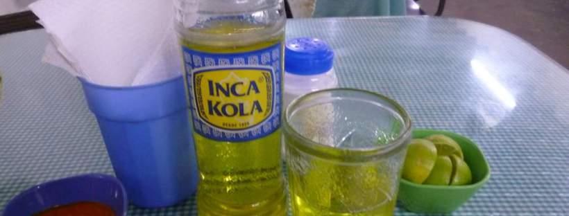 Bottle of Inca Kola