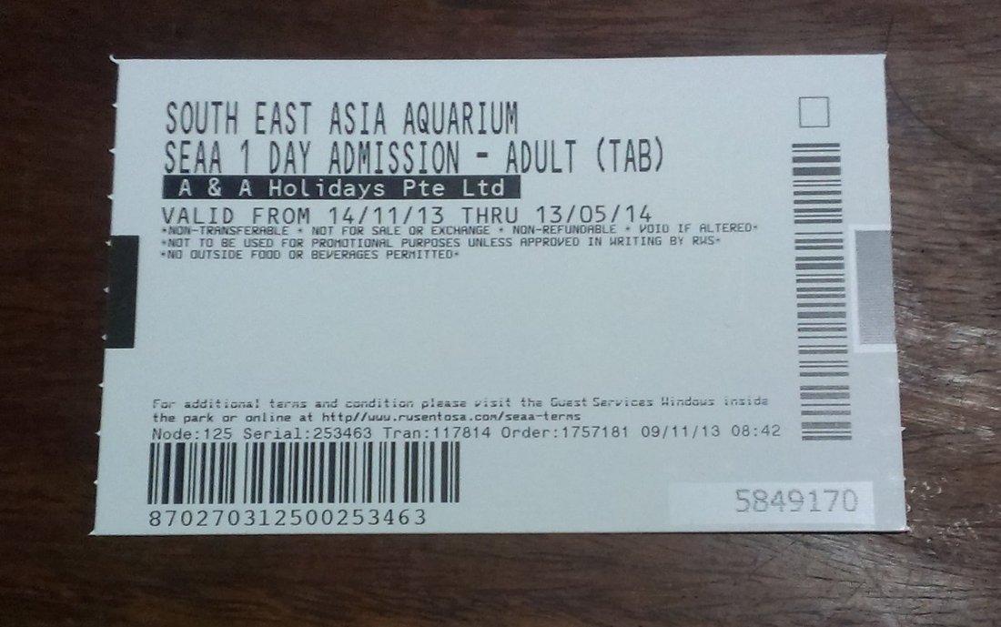 south east asia aquarium cheap ticket