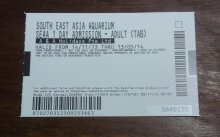 south east asia aquarium cheap ticket