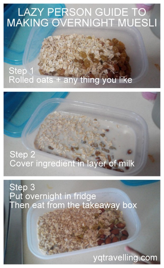 Recipe for overnight muesli
