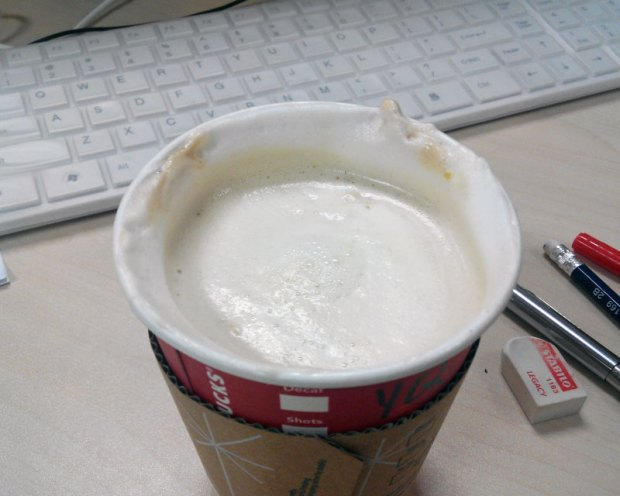 What it really looks like in a takeaway cup.